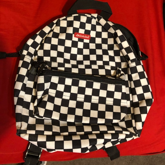 be15effff0 Dickies Handbags - Black and white checkered Dickies mini backpack